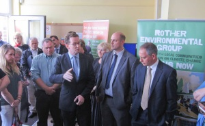 Greg Barker MP attends the launch of the Bexhill Energy Advice Centre