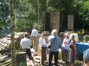 A visit to Craig Sam's demonstration of Bchar in his wood in Fairlight