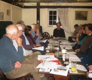 A REG meeting in the King's Head Udimore